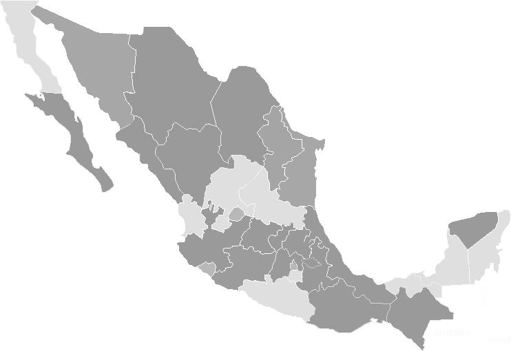 mapa de mejico