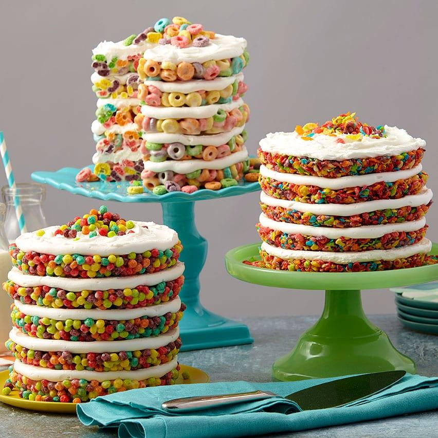 pastel de cereal