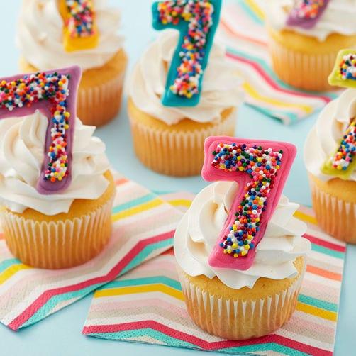 Cupcakes Wilton con el número 7