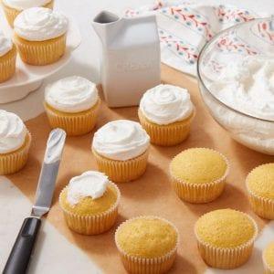 Cupcakes con espátula angular