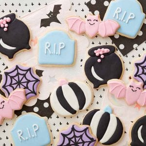 galletas de halloween de color pastel