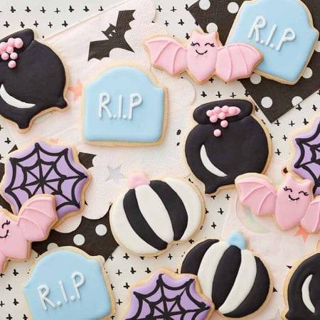 galletas de halloween de color pastel