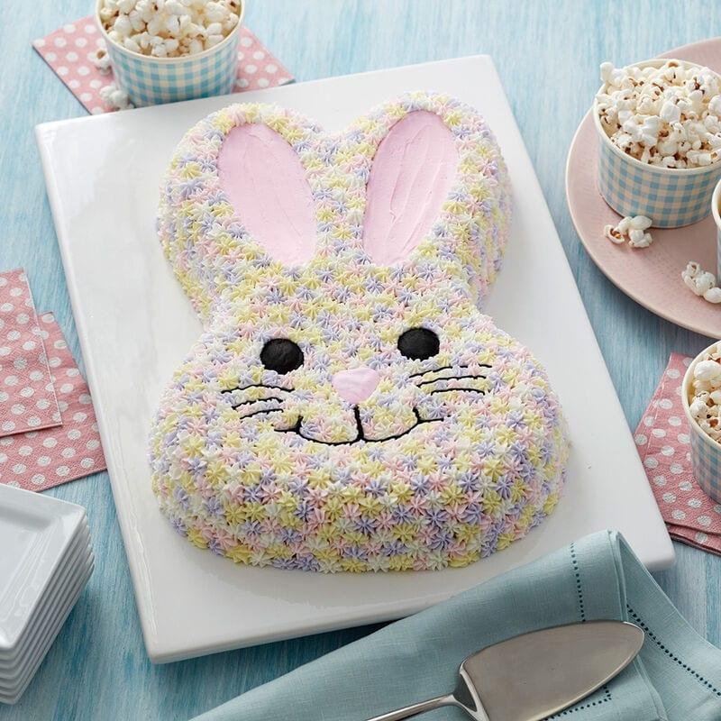 Pastel en forma de conejo de pascuas