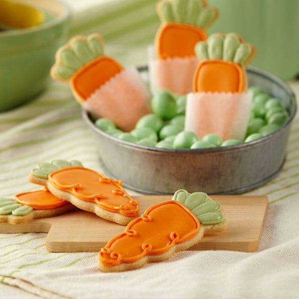 Galletas en forma de zanahoria Wilton